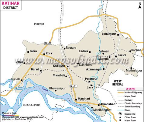 map of begusarai district kathihar district map