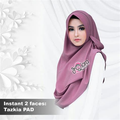 Jilbab Pet Mitting 4 jilbab instan 2faces tazkia pad model 2018 harga murah bundaku net