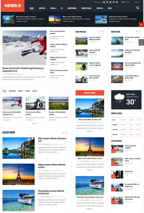 download themes joomla sj news ii magazine joomla theme free download