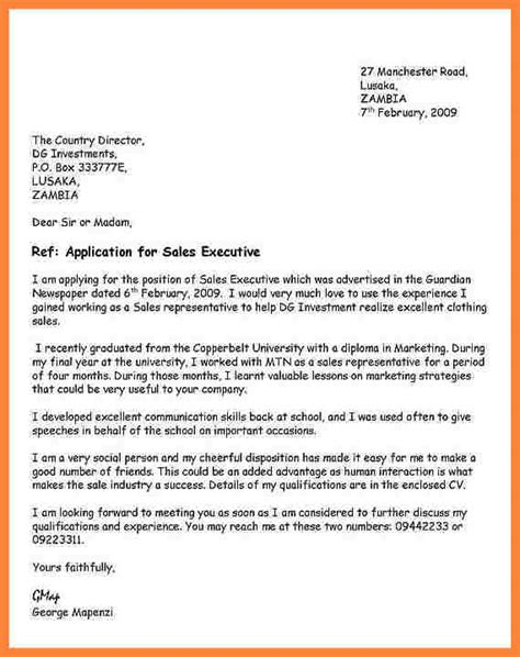 cover letter format for application 10 format of an application letter bussines 2017