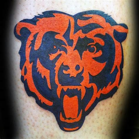 chicago bears tattoos 50 chicago bears tattoos for nfl football ink ideas
