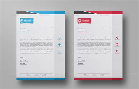 minimal letterhead design by vejakakstudio graphicriver