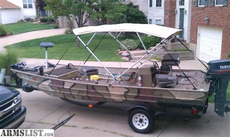 used 18 foot jon boats for sale armslist for sale 18 foot fishing duck jon boat 6 6