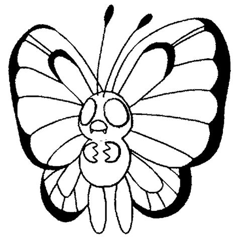 Pokemon Coloring Pages Butterfree | coloring pages pokemon butterfree drawings pokemon