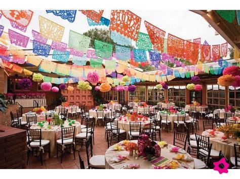 manteles de papel picado para decoraci 243 n de boda mexicana