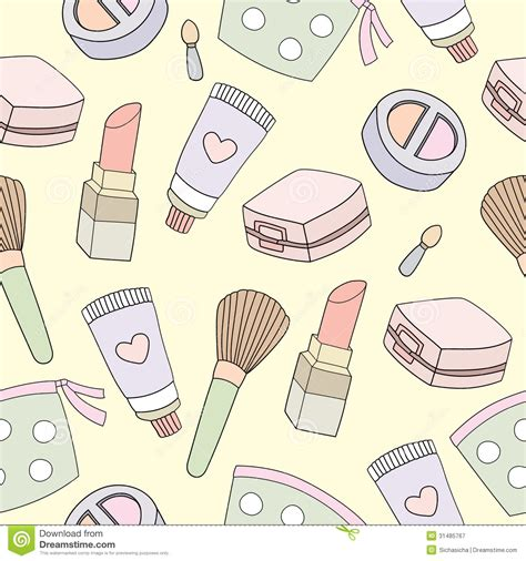 makeup pattern vector background clipart makeup pencil and in color background