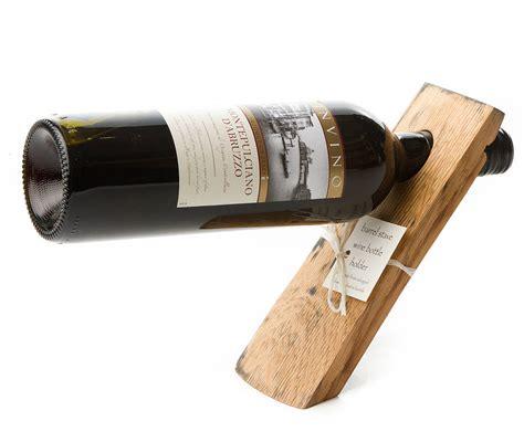 wine holder barrel stave balancing wine bottle holder by phil rao