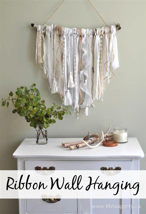 Easy Way To Hang Curtains Decorating Ribbon Wall Hanging
