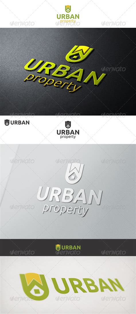 free logo design urban urban property u logo by djjeep graphicriver