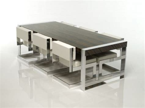 aluminum frames minimalist modern dining table and chair