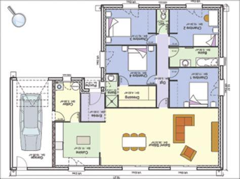 plan maison 4 chambres 騁age plan de maison norme handicape