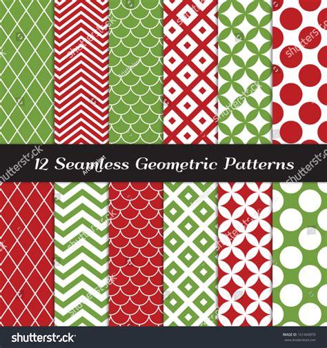 christmas patterns modern christmas red green geometric seamless patterns stock