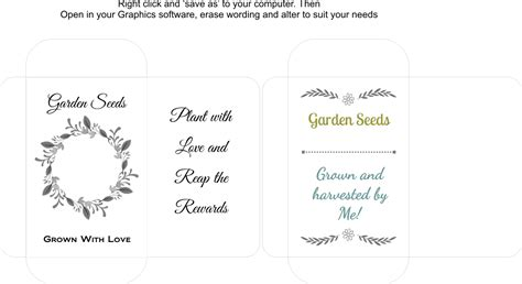 seed packet template seed packet templates lils place personalised