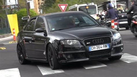 audi rs4 exhaust black audi rs4 with loud decatted exhaust in monaco