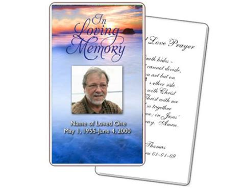 best photos of free funeral program card templates free