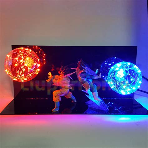 dragon ball z led l dragon ball z vegeta son goku super saiyan led lighting