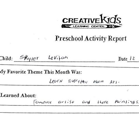 chicago school report card template sle progress report comments for preschoolers