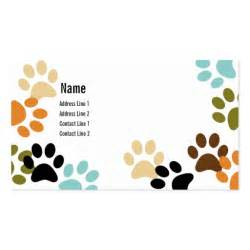 paw print business cards paw prints business card zazzle