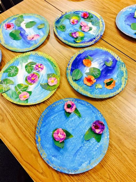 craft lessons for it s day monet s pond crafts