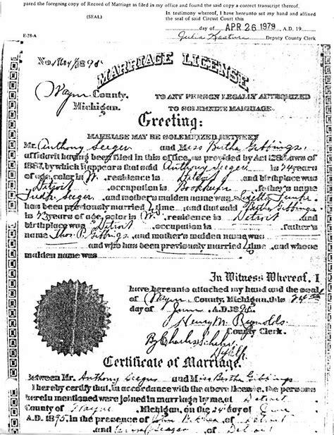 Detroit Michigan Marriage Records Sources