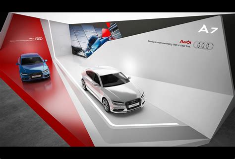 cars photo booth layout audi a7 exhibition stand design gm stand design