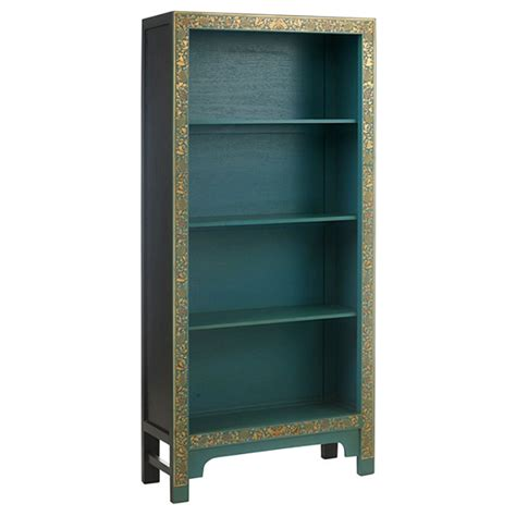 style blue wooden bookcase bookcase uk