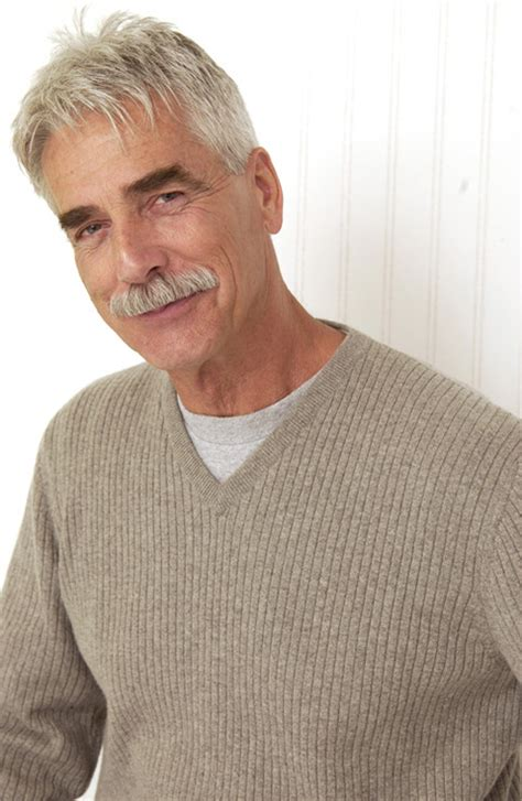sam elliott long grey slickback hairstyle and handlebar mustache sam elliott long hair pictures to pin on pinterest pinsdaddy