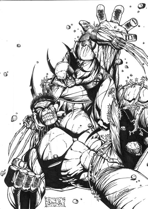 imagenes de hulk vs wolverine para colorear hulk vs wolverine by muertito69 on deviantart