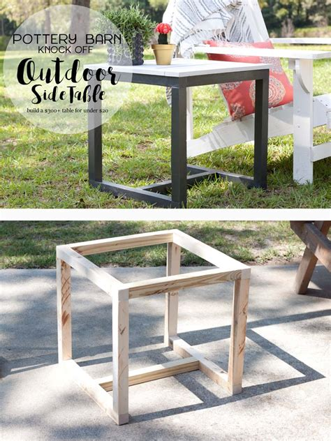 outdoor side table ideas diy outdoor side table pottery barn knockoff