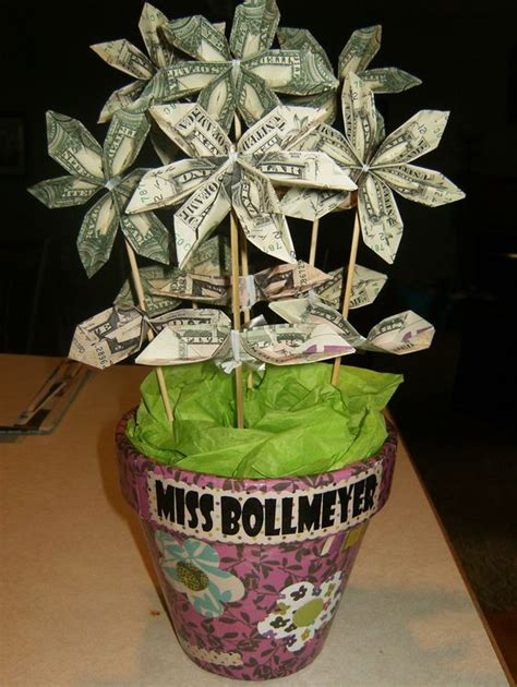 Money Origami Basket - money flower bouquet so easy flower folding