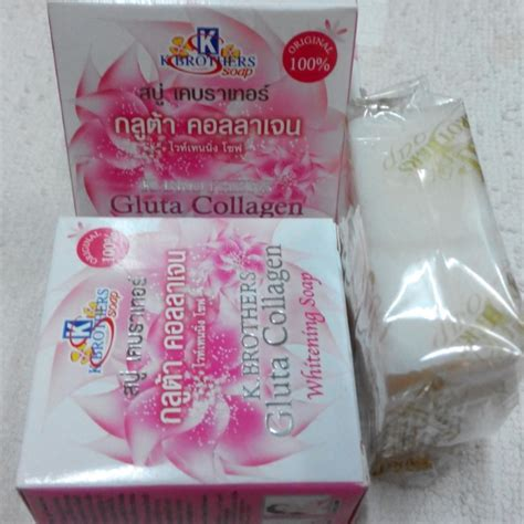 Sabun Gluta Soap sabun k brothers gluta collagen whitening soap box 60g