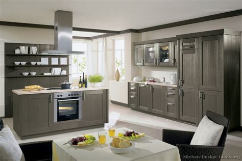Gray Cabinet Kitchens Pictures Of Kitchens Modern Gray Kitchen Cabinets