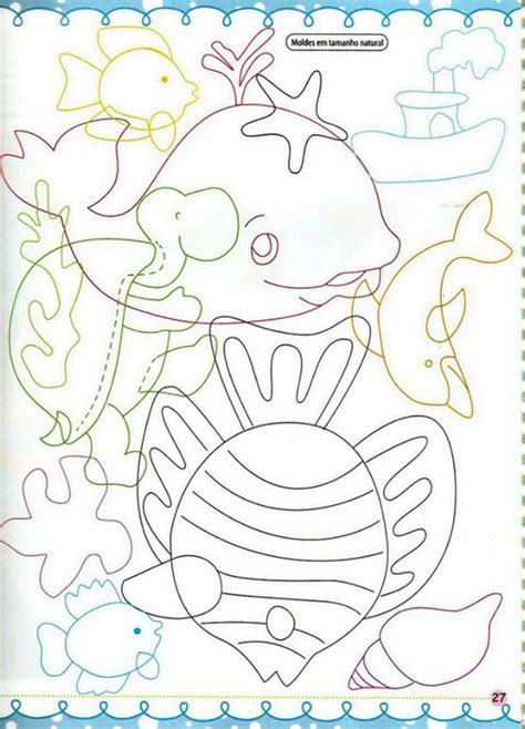 Patchwork Fish Pattern - sea animal appliques appliqu 233 patterns