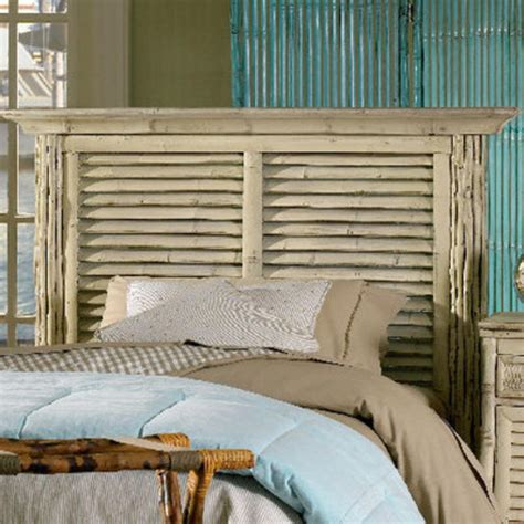 nautical headboard coastal bamboo louvered whiye headboard beach d 233 cor shop