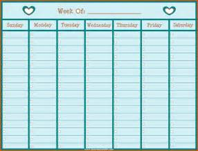 Fillable Weekly Calendar Template by Free Fillable Attendance Calendar 2016 Calendar Template