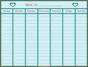 one week template one week calendar layout 2017 calendar printable