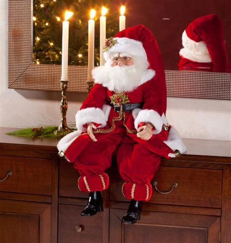 a large sitting santa sitting velvet santa 30 quot santa doll large doll exposures