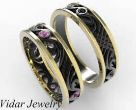Band set vidar jewelry unique custom engagement and wedding rings