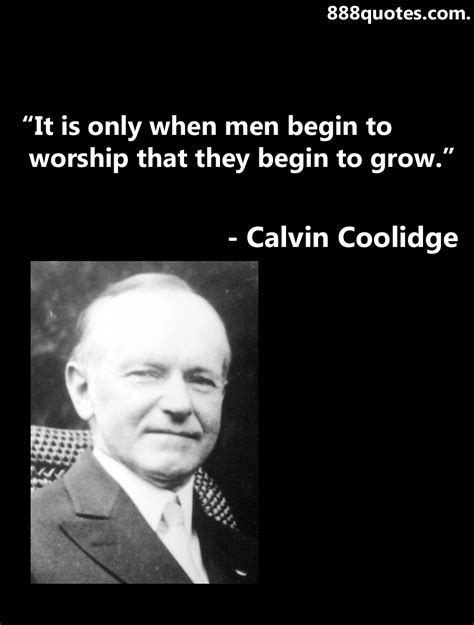 calvin coolidge quotes calvin worship quotes quotesgram