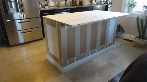 build kitchen island with base cabinets building a kitchen island small space style the next step