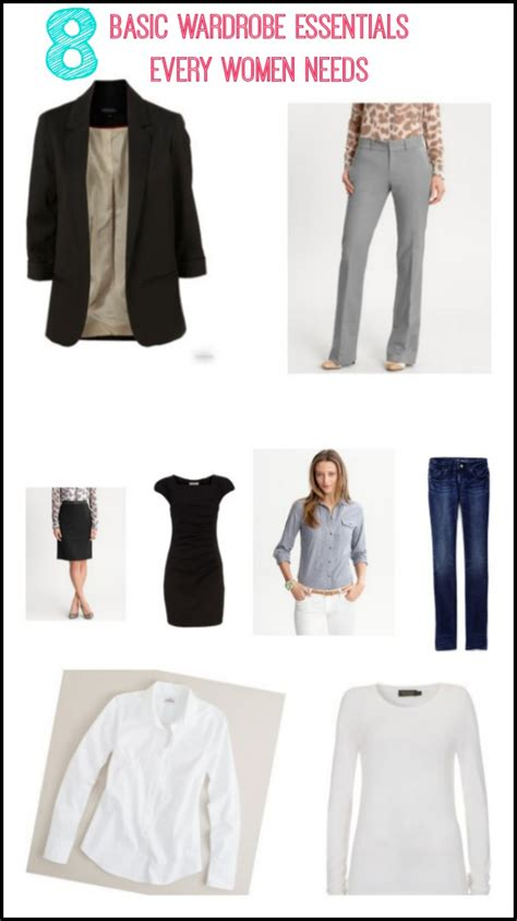 What Every Needs In Wardrobe by 8 Basic Wardrobe Essentials Every Needs Grace