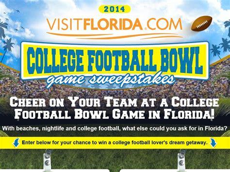 Sweepstakes Florida - florida college football bowl game sweepstakes select states