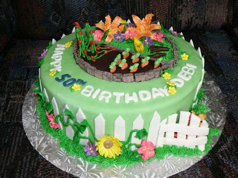 Garden Birthday Cakes Ideas Pin By On