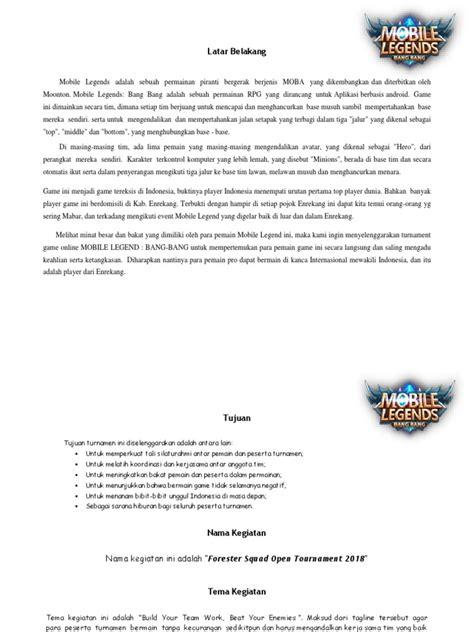 proposal turnamen game  guru galeri
