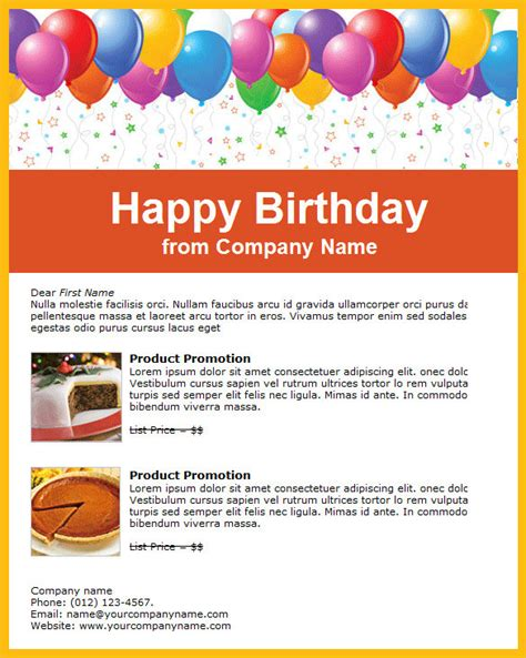 9 Happy Birthday Email Templates Html Psd Free Premium Templates Happy Birthday Email Template