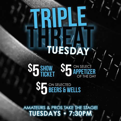 house of comedy mn triple threat tuesday tickets rick bronson s house of