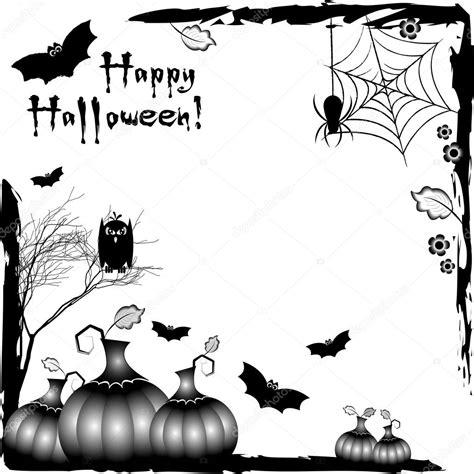 imagenes en blanco y negro de halloween ilustraci 243 n festivo en tema de halloween marcos rinc 243 n