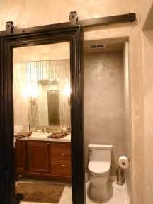 Custom barn doors contemporary bathroom san