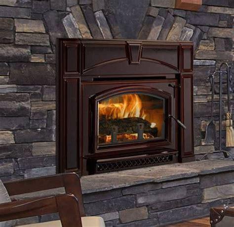 quadra fire voyageur grand mahogany wood fireplace insert