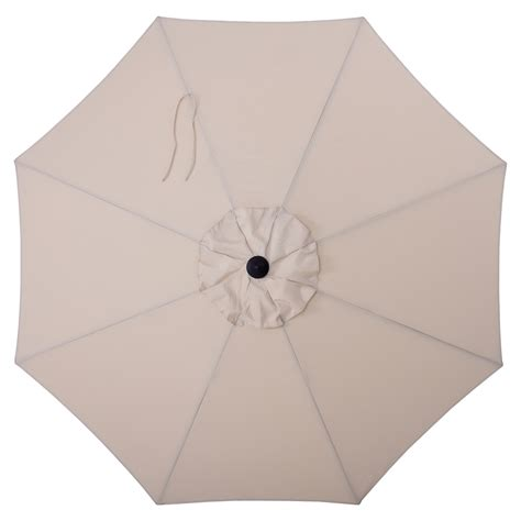 allen and roth ls shop allen roth solid wheat market patio umbrella